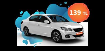 Peugeot 301 Günlük 139 TL Araç Kiralama Kampanyası