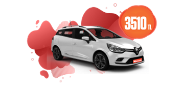 Renault Clio Sport Tourer Dizel , Manuel veya benzeri Aylık Sadece 3510 TL Araç Kiralama Kampanyası