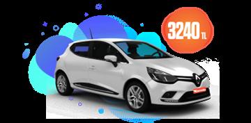 Renault Clio Benzinli Manuel veya benzeri,  Aylık Sadece 3240 TL Araç Kiralama Kampanyası