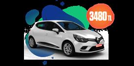 Renault Clio Dizel , Otomatik veya benzeri, KDV Dahil Aylık Sadece 3.480 TL Araç Kiralama Kampanyası