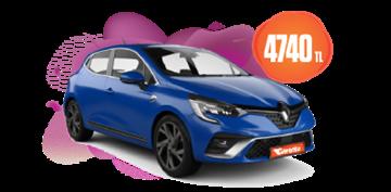 Renault Clio Dizel, Manuel Aylık KDV Dahil 4.740 TL Araç Kiralama Kampanyası