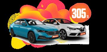 Renault Megane Dizel, Otomatik Günlük 305 TL Araç Kiralama Kampanyası