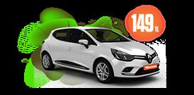 Renault Clio Benzinli, Manuel Hafta İçi ve Hafta Sonu Günlük 149 TL Araç Kiralama Kampanyası