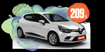 Renault Clio Dizel, Otomatik Hafta İçi Günlük 209 TL, Hafta Sonu Günlük 299 TL Araç Kiralama Kampanyası