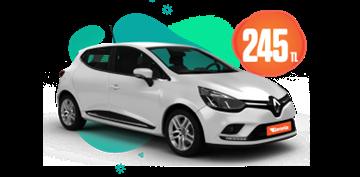Renault Clio Benzinli, Otomatik Hafta İçi Günlük 245 TL, Hafta Sonu Günlük 295 TL! Araç Kiralama Kampanyası