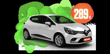 Renault Clio Benzinli, Otomatik Hafta İçi Günlük 289 TL, Hafta Sonu Günlük 339 TL! Araç Kiralama Kampanyası