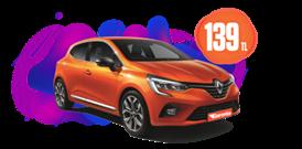 Renault Clio Benzinli, Otomatik Hafta İçi ve Hafta Sonu Günlük 139 TL Araç Kiralama Kampanyası