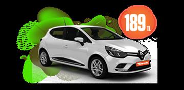 Renault Clio Dizel, Manuel Hafta İçi ve Hafta Sonu Günlük 189 TL Araç Kiralama Kampanyası