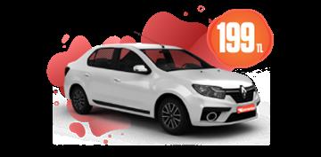 Renault Clio Symbol Dizel, Manuel Hafta İçi 199 TL Hafta Sonu Günlük 229 TL Araç Kiralama Kampanyası