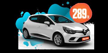 Renault Clio Dizel, Otomatik Hafta İçi Günlük 289 TL, Hafta Sonu Günlük 339 TL! Araç Kiralama Kampanyası