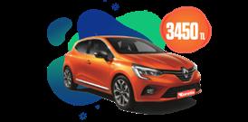 Renault Clio Benzinli Otomatik veya benzeri,  Aylık Sadece 3450 TL Araç Kiralama Kampanyası