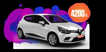 Renault Clio dizel, otomatik ve benzeri aylık sadece 4200 TL Araç Kiralama Kampanyası