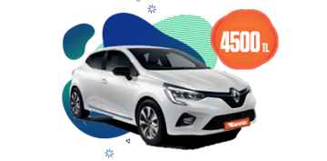 Renault Clio Benzinli Otomatik veya benzeri,  Aylık Sadece 4.500 TL Araç Kiralama Kampanyası