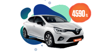Renault Clio dizel, otomatik ve benzeri aylık sadece 4.590 TL Araç Kiralama Kampanyası