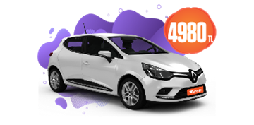Renault Clio Benzinli, Manuel Aylık Sadece 4.980TL! Araç Kiralama Kampanyası