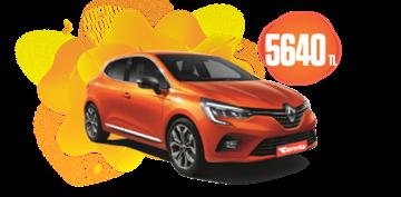 Renault Clio Benzinli Otomatik Aylık Sadece 5.640 TL Araç Kiralama Kampanyası