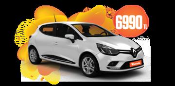 Renault Clio Benzinli, Otomatik Aylık Sadece 6.990 TL! Araç Kiralama Kampanyası