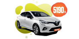 Renault Clio Dizel, Manuel Aylık Sadece 5.190 TL Araç Kiralama Kampanyası