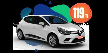 Renault Clio Dizel, Manuel Günlük Sadece 119 TL Araç Kiralama Kampanyası