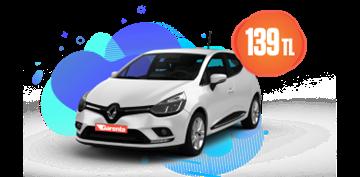 Renault Clio Dizel, Manuel Ekim Boyunca Günlük Sadece 139 TL Araç Kiralama Kampanyası