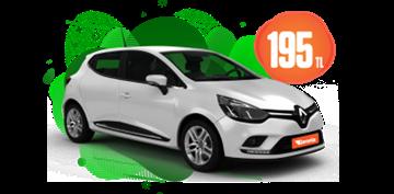 Renault Clio Dizel, Manuel Hafta İçi Günlük 195 TL, Hafta Sonu Günlük 245TL! Araç Kiralama Kampanyası