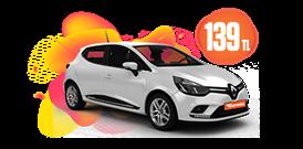 Renault Clio Dizel, Otomatik Günlük Sadece 139 TL Araç Kiralama Kampanyası