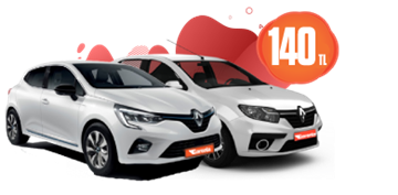 Renault Clio ve Symbol Benzinli, Manuel Günlük Sadece 140 TL Araç Kiralama Kampanyası