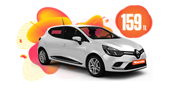 Renault Clio Benzinli, Manuel Günlük Hafta İçi 159 TL, Hafta Sonu 189 TL Araç Kiralama Kampanyası