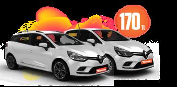 Renault Clio Benzinli, Manuel Günlük Sadece 170 TL Araç Kiralama Kampanyası