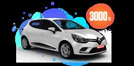 Renault Clio Benzinli Manuel veya benzeri, KDV Dahil Aylık Sadece 3000 TL Araç Kiralama Kampanyası