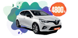 Renault Clio Benzinli, Manuel Aylık Sadece 4.800 TL Araç Kiralama Kampanyası