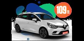 Renault Clio Sport Tourer Benzinli, Manuel Günlük 109 TL Araç Kiralama Kampanyası
