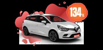 Renault Clio Sport Tourer Benzinli, Manuel Günlük 134 TL Araç Kiralama Kampanyası