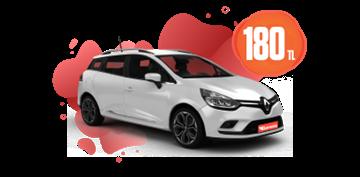 Renault Clio Sport Tourer Benzinli, Manuel Günlük  Sadece 180TL Araç Kiralama Kampanyası