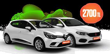 Renault Clio ve Fiat Egea Dizel, Otomatik Aylık Sadece 2700 TL Araç Kiralama Kampanyası