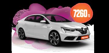 Renault Megane Dizel, Otomatik Aylık KDV Dahil 7.260 TL! Araç Kiralama Kampanyası