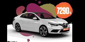 Renault Megane Dizel, Otomatik Aylık 7.290 TL Araç Kiralama Kampanyası