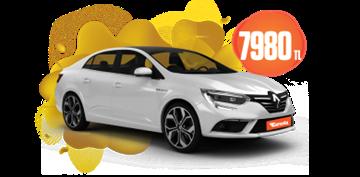 Renault Megane Dizel, Otomatik Aylık 7.980 TL! Araç Kiralama Kampanyası