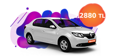 Renault Clio Symbol, KDV dahil aylık sadece 2.880 TL