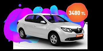 Renault Clio Symbol ve benzeri, aylık sadece 3.480 TL Araç Kiralama Kampanyası
