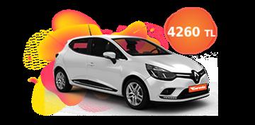 Renault Clio Dizel Otomatik ve benzeri, KDV Dahil Aylık Sadece 4.260 TL Araç Kiralama Kampanyası