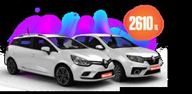Renault Clio Sport Tourer ve Clio Symbol Aylık Sadece 2.610 TL Araç Kiralama Kampanyası