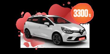 Renault Clio Sport Tourer ve Clio Symbol Aylık Sadece 3.300 TL Araç Kiralama Kampanyası