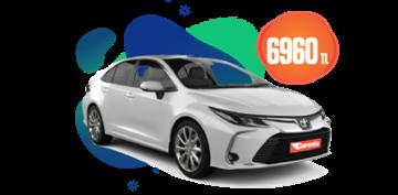 Toyota Corolla Benzin/Elektrik, Otomatik Aylık 6.960 TL Araç Kiralama Kampanyası
