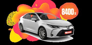 Toyota Corolla Hibrit, Otomatik Aylık KDV Dahil 8.400 TL Araç Kiralama Kampanyası