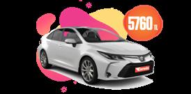 Toyota Corolla Hybrid Aylık 5760 TL Araç Kiralama Kampanyası