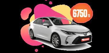 Toyota Corolla Hybrid Aylık 6750 TL Araç Kiralama Kampanyası
