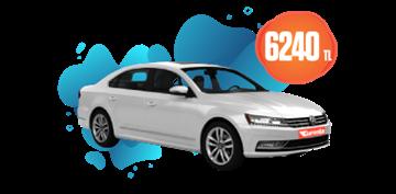 Volkswagen Passat Dizel Otomatik  ve benzeri, Aylık 6240 TL Araç Kiralama Kampanyası