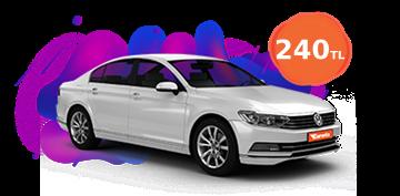 Volkswagen Passat Günlük 240 TL Araç Kiralama Kampanyası