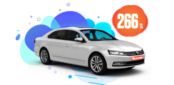 Volkswagen Passat Dizel Otomatik Günlük 266 TL Araç Kiralama Kampanyası